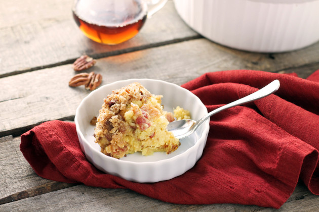 Maple-Pecan Bread Pudding Recipe — Dishmaps
