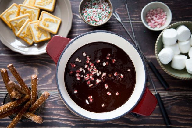 Chocolate Peppermint Fondue Photo
