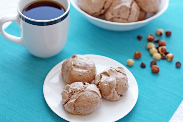 Hazelnut Mocha Meringue Cookies Photo