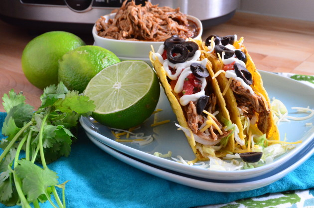Slow Cooker Shredded Chicken Tacos for Dinner Tonight