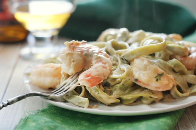 Creamy Shrimp Pasta Image