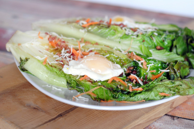 Grilled Romaine with Poached Eggs Picture