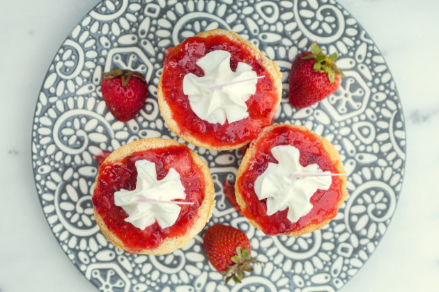 Strawberry Tres Leches Cupcakes