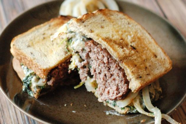 Spinach Artichoke Patty Melt