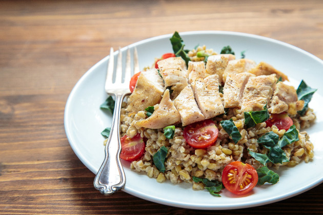 Freekeh Salad with Chicken