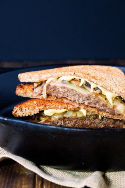 Mushroom and Swiss Patty Melts: Grilled Sandwiches for Two - Food ...