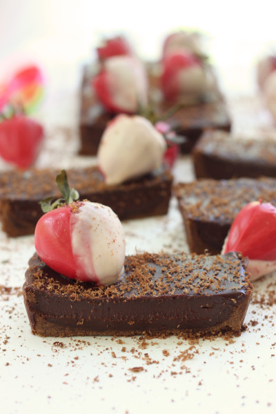Chocolate Strawberry Tart Picture